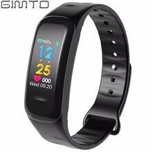 Gimto Для мужчин Для женщин Спорт Смарт часы-браслет Bluetooth Часы сердечного ритма Приборы для измерения артериального давления кислорода сна Мониторы Шагомер smartwatch
