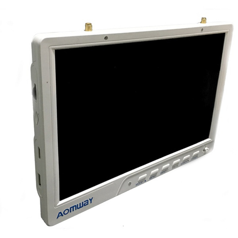 Aomway HD588 10 Inch 5.8G 40CH Diversity FPV HD Monitor 1920 x1200 with DVR Build in Battery For FPV Multicopter original aomway rx006 dvr video recorder 5 8g 48ch diversity raceband a v receiver for rc multicopter antenna transmitter part