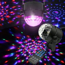 Sound Activated Laser Projector RGB Stage Light Lighting Effect Show Lamp Music Disco Ball
