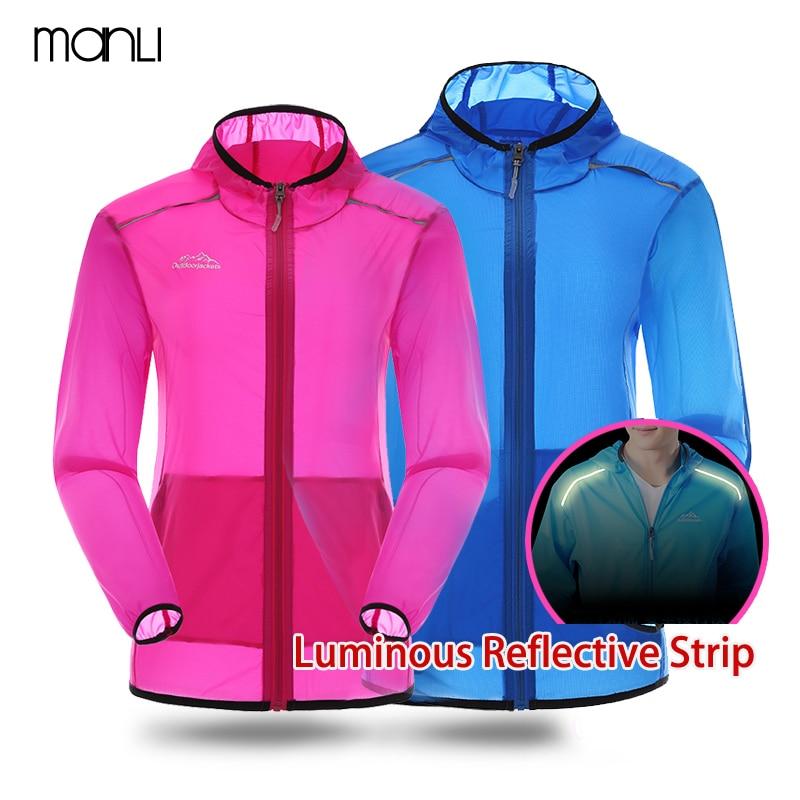 MANLI 2018 Men Women Quick Dry Waterproof Breathable Thin Light Hiking  Outdoor Jacket Summer Anti-UV Anti-sweat Hooded Windbreak 641d04e1c956
