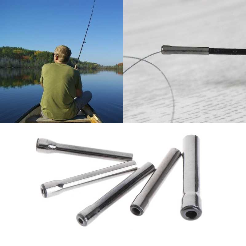 OOTDTY Fishing Line Ring Guide Eye Hollow Rod Stem Tip Accessories Stainless Steel Tool
