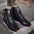 Осень зима Y3 мужчины кожаные сапоги высокие кроссовки мужчин повседневная обувь