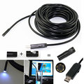 Waterproof USB Endoscope 2M Cable 6 LED Dia 5mm Borescope Inspection Wire Camera With Mini Camera Mirror Hook Magnet