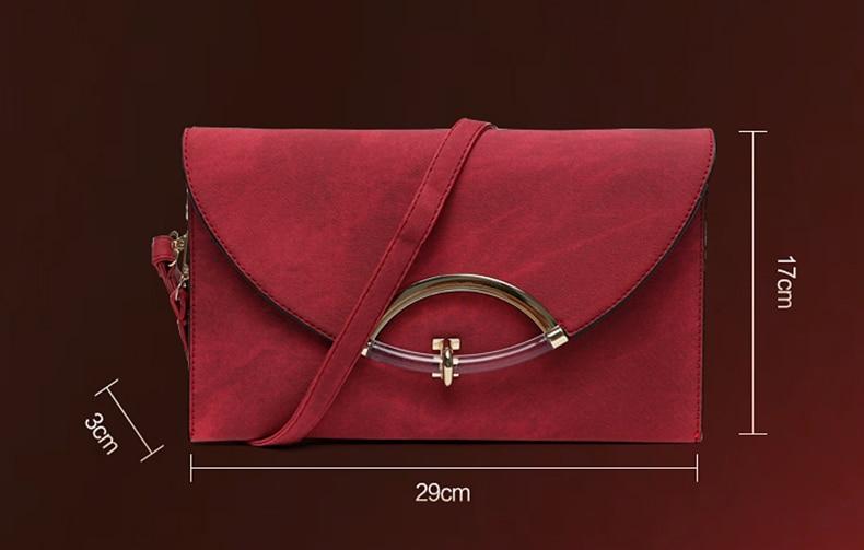 2017 Nova moda ženske torbe s kopčom Pu kože Žene koverta - Torbe - Foto 2