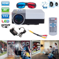 Original GM50 Mini Home Theater Projectors Video 3d Projector With Remote Controller Support AV/USB/SD/VGA HDMI