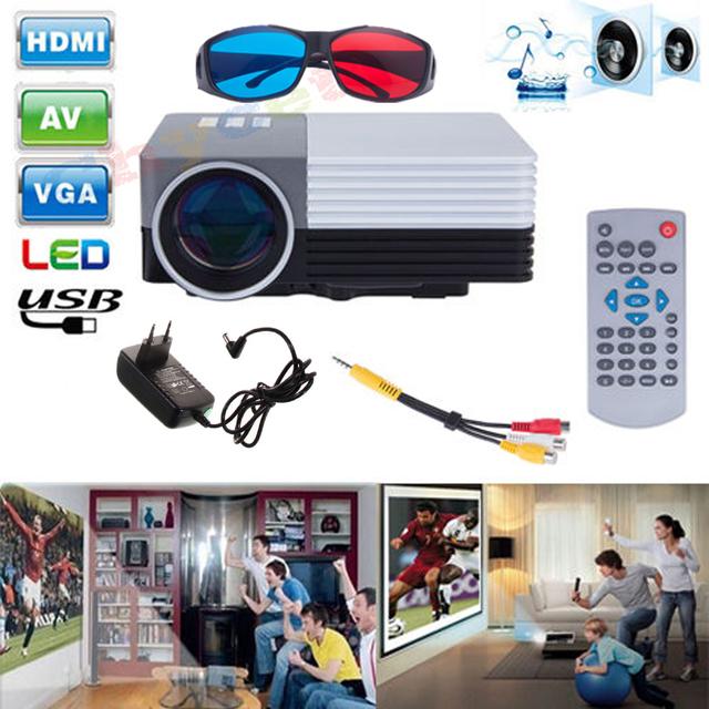 Original GM50 Mini Proyectores de Cine En Casa de Vídeo 3d Proyector Con Mando a distancia de Apoyo AV/USB/SD/VGA HDMI