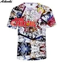 Aikooki Anime 3D Fairy Tail T-Shirt Men/Women Short Slevee T shirt Fairy Tail 3D Print Summer Tee shirt Fashion Hip Hop Tops