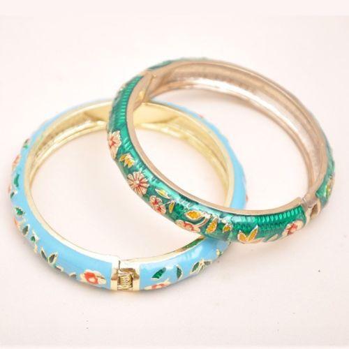 Vente chaude->@@ Wholesale10 PCS Superbe handmake Chinois En Émail Cloisonné Bracelet Manchette BRACELET-Top qualité livraison gratuite - 4