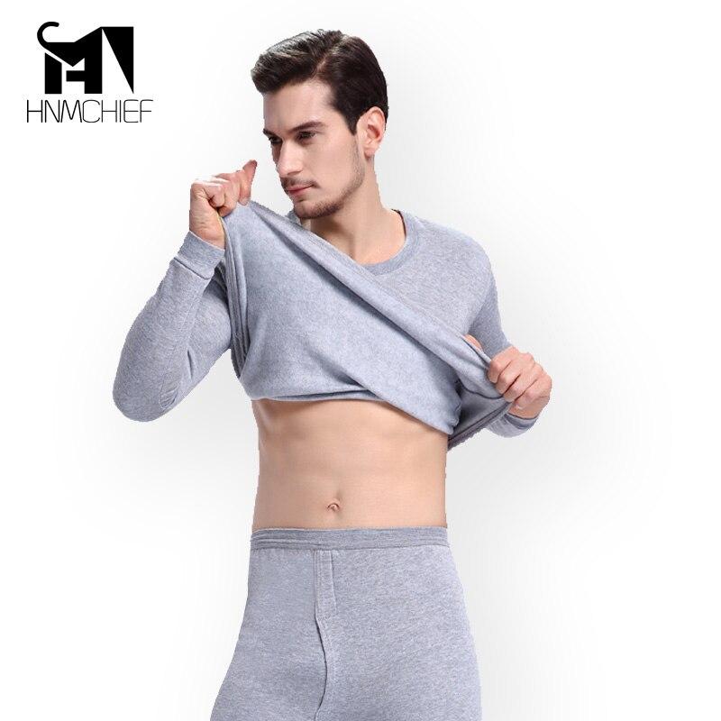 Men thermal underwear long johns fashion brand winter fleece mens underpants men thermal underwear set Good Quality clothing