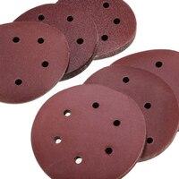 60 шт. 6in/150 мм 60/80/120/180/240/320 шлифование песком диск самоклеящаяся наждачная бумага