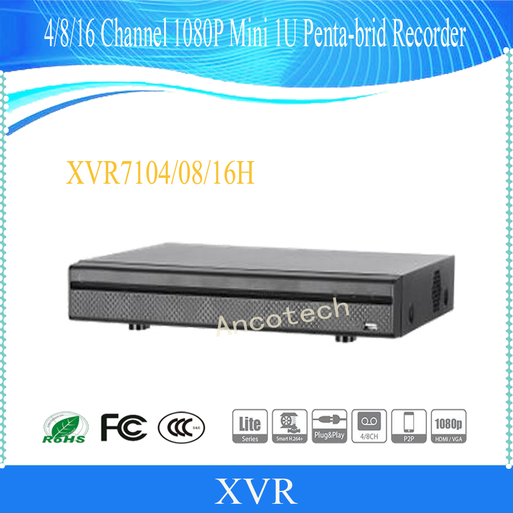 DAHUA 4/8/16 Channel Penta-brid 1080P Mini 1U Digital Video Recorder Without Logo XVR7104H/XVR7108H/XVR7116H dahua penta brid xvr xvr4104hs support