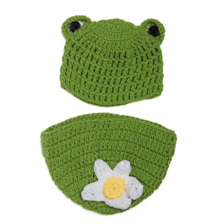 Frosch Stil Neugeborenen Fotografie Baby Hut Häkeln Kleidung Set ...