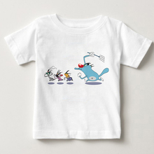 2019 Summer Children T shirt Oggy and The Cockroaches Childrens Short Sleeved T-shirt Boy Girl Pure Cotton Breathable