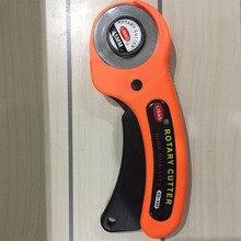 Cortador de tela de retales de hoja rotativa Circular de 45mm 1 Uds., cuchillo de mano para manualidades de cuero, herramientas de costura