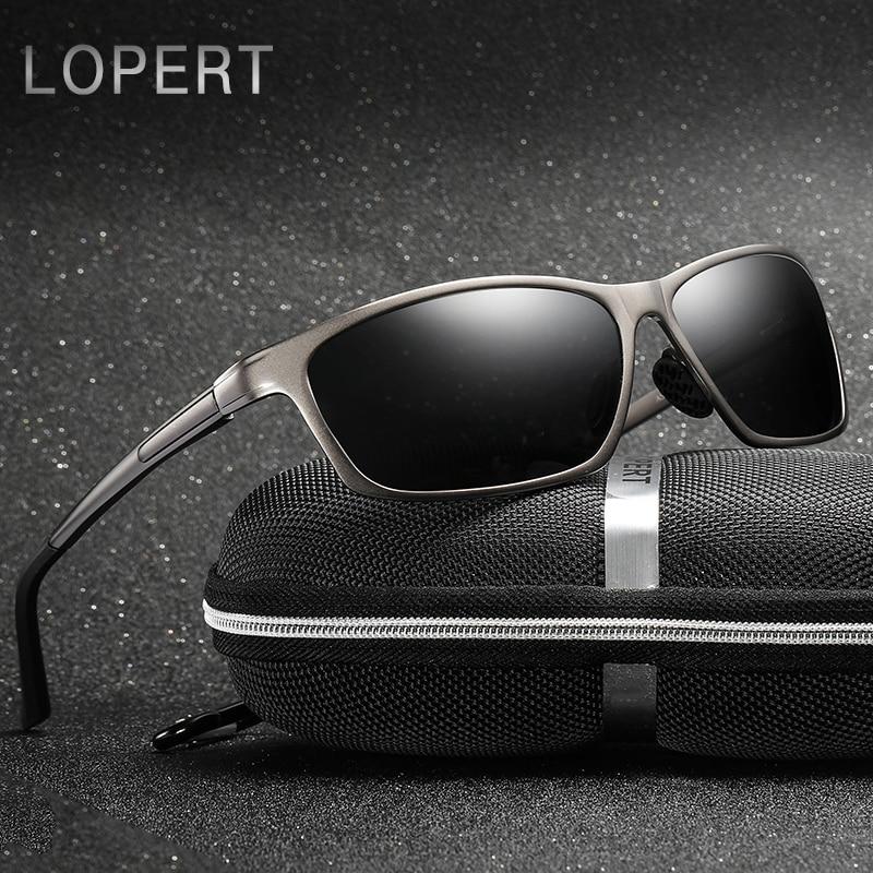 LOPERT Polarized Sunglasses Men Aluminium Magnesium HD Sun Glasses - Accesorios para la ropa