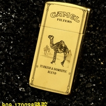 XGQ 6 модель бренд zorr верблюд сатана Лев 909 латунь Двусторонняя Лазерная резная узкая керосиновая зажигалка