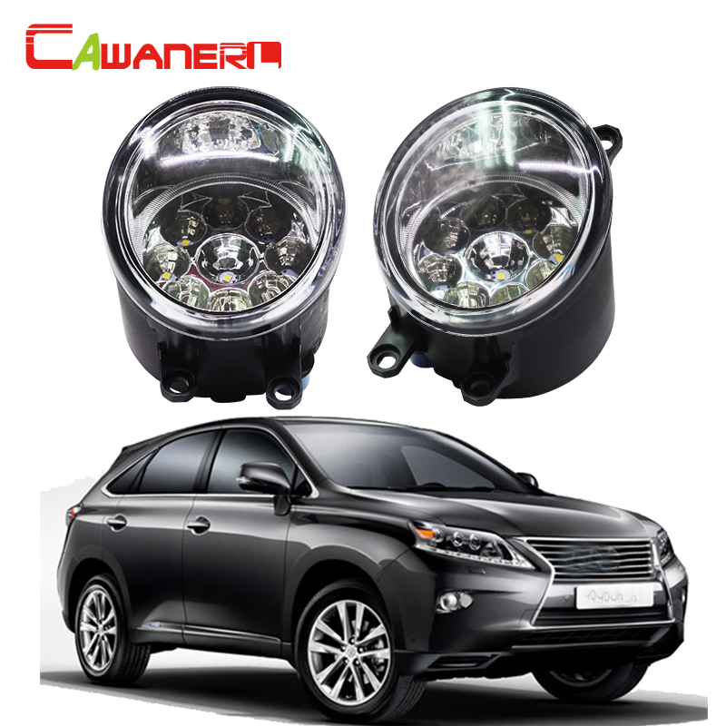 Cawanerl 2 X Car LED Light Auto Fog Light DRL Daytime Running Light For Lexus RX 450H RX450H AWD Closed Off-Road Vehicle 2008- compatible projector lamp with housing 5j j0405 001 for mp776 mp776st mp777