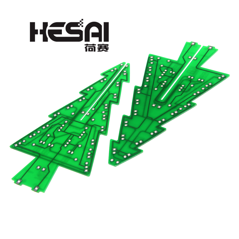 Image 3 - Three Dimensional 3D Christmas Tree LED DIY Kit Red/Green/Yellow RGB LED Flash Circuit Kit Electronic Fun Suite-in Integrated Circuits from Electronic Components & Supplies