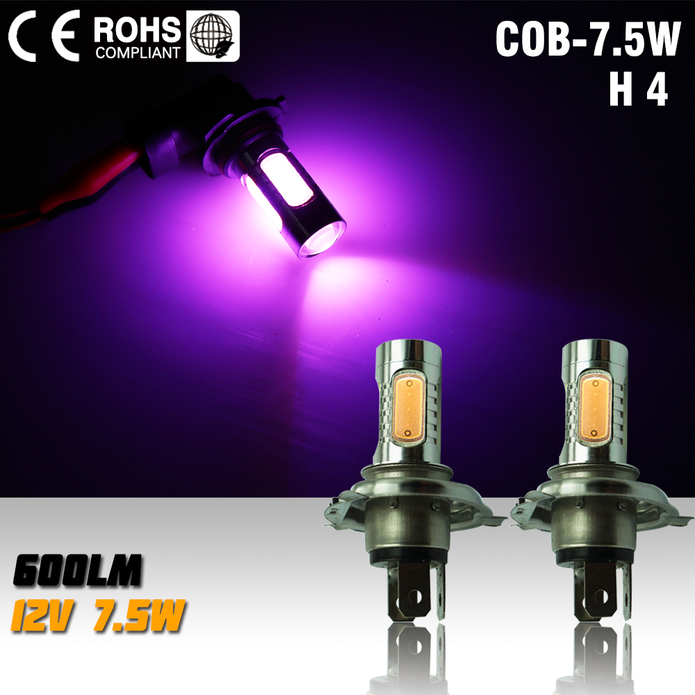 2pcs led h4 7.5w high power led bulb LED Turn Brake Stop Signal Tail Fog Bulb Light Lamp led bulb fog light pink
