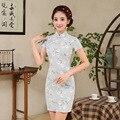 High Quality  Linen Women Cheongsam Short Summer Female Chinese Style Dress Women's Cheongsam Qipao Chinese Clothing Store 18