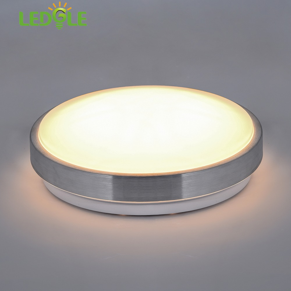 LEDGLE 13W LED Ceiling Lamp Round Ceiling Light Equal to 110W Incandescent Bulb Warm White Suitable for Bathroom Kitchen Hallway