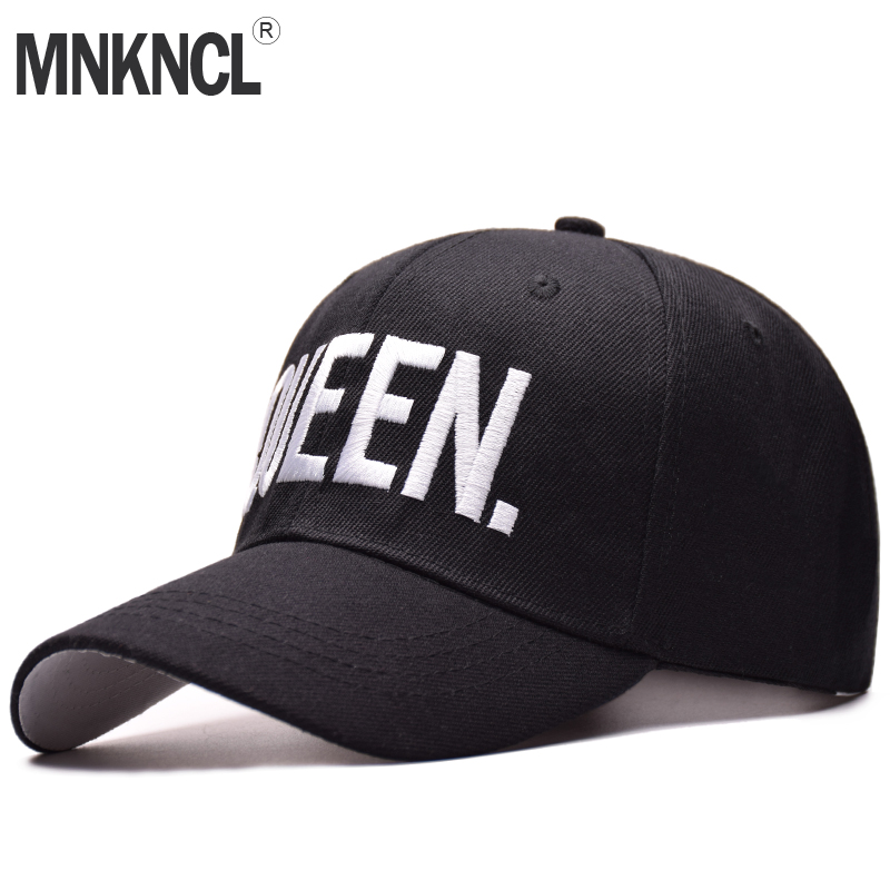 MNKNCL Hot Selling King Queen Letter Embroidery Baseball Cap Couples Hip Hop Snapback Cap for Man Hat Women bone aba reta gorr voron2017 new king queen snapback hat