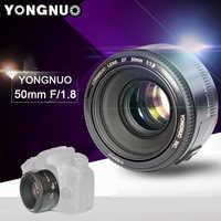 YONGNUO-lente de cámara de enfoque automático, objetivo fijo estándar de apertura para cámaras Canon EOS DSLR, YN EF f/1,8 AF 50mm, 1:1.8, disponible en Rusia