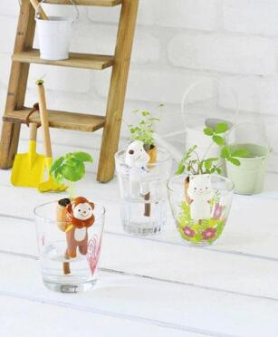 5pcs Cute Ceramic Cultivation Peropon Drinking Animal Planter Cute Animal Tongue Pot Ceramic Self Watering Planter Party Gift