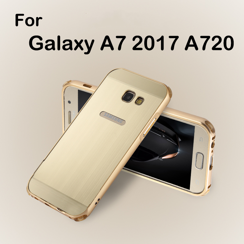 quality design cc665 fc08f US $7.99 20% OFF Aliexpress.com : Buy Luxury Metal Back Cover For Samsung  Galaxy A7 2017 Bumper Case A720F Shockproof Aluminum For Samsung A7 2017 ...