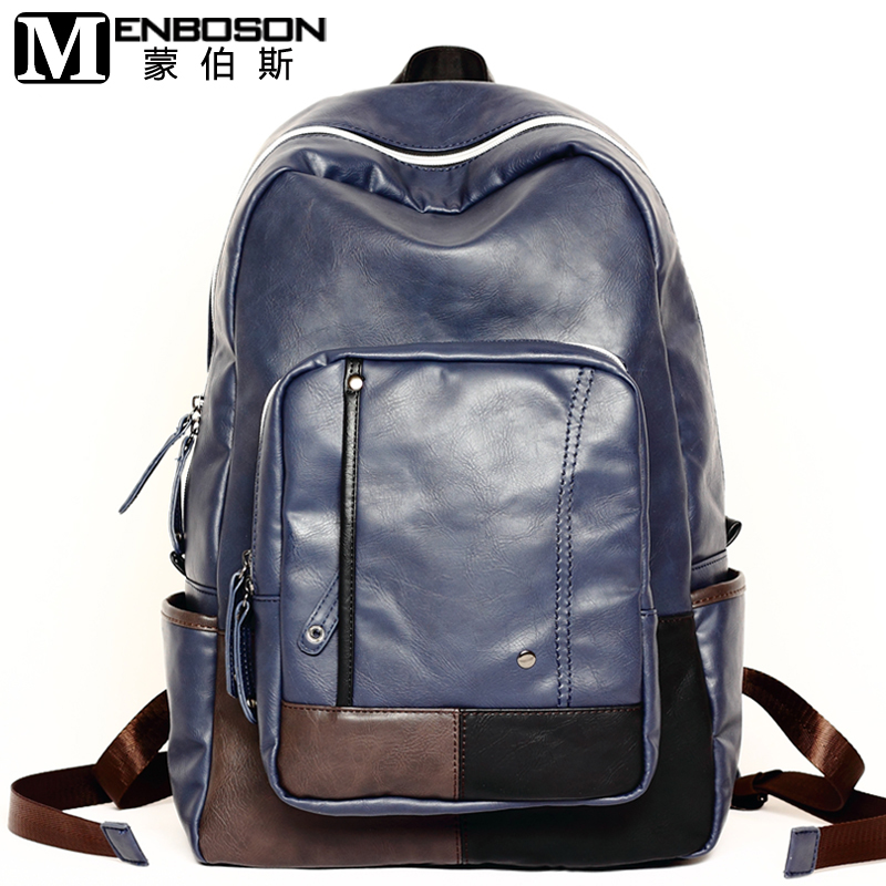 Men PU Leather Backpacks Mens Fashion Backpack   Travel Bags Mochila  Feminina Casual Backpack Western College Style Bags 9fd7044a35982