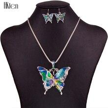 MS1504260 Мода Ювелирные Наборы Высокое Качество Наборы Ожерелье Для Женщин Ювелирные Изделия Посеребренная Бабочка Уникальный Вечеринка Дизайн Подарки
