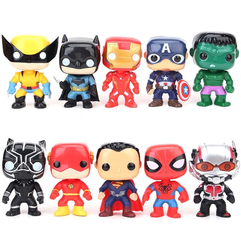 10 pcs /set Avengers captain America iron man black panther Hands do toys children doll