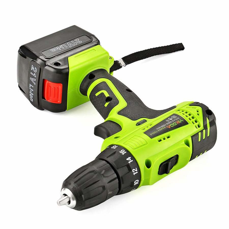 Image 3 - YIKODA 21V Electric Drill Lithium Battery DIY Mini Rechargeable Drill Double Speed Cordless Drill Household Power Tools-in Electric Drills from Tools on