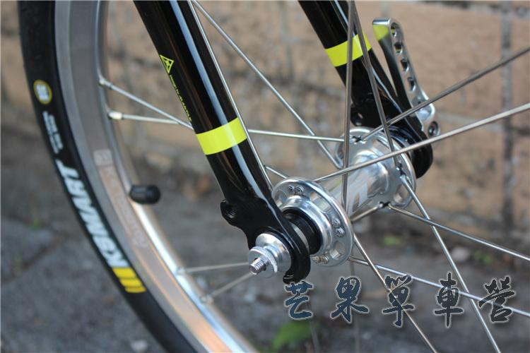 "HTB1juSHXIvrK1Rjy0Feq6ATmVXau Fnhon CR-MO Steel Folding Bike 16"" Minivelo Mini velo 9 Speed Bike Bicycle overall bike V Brake"