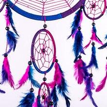 Dream Catcher Circular Purple Feathers