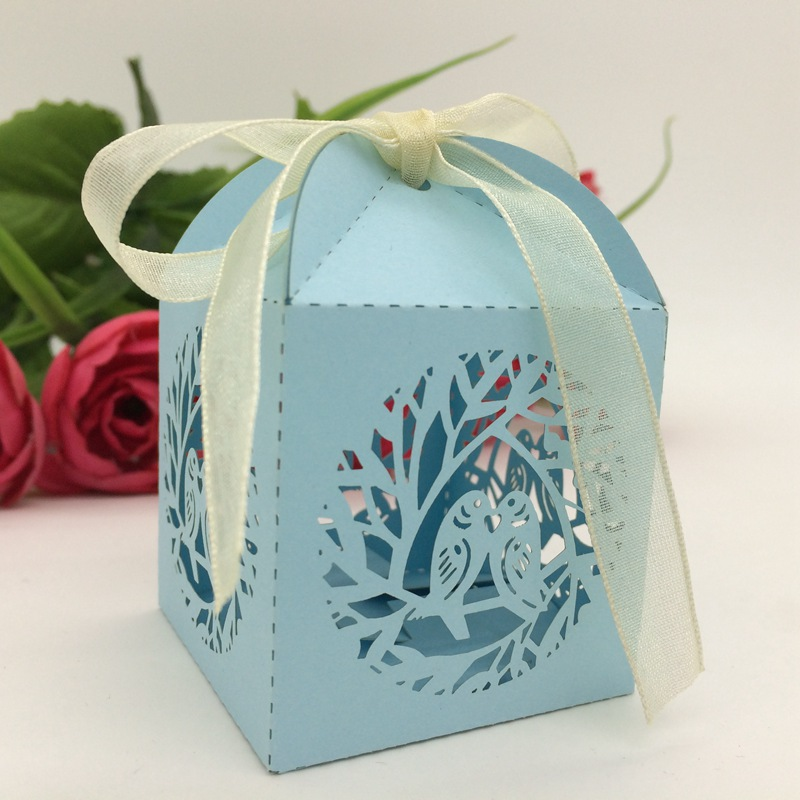 120pcs 43 Color Laser Cut Birdcage Gift Candy Boxes Party Wedding