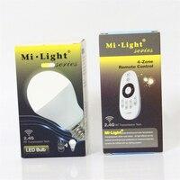 הנורה LED Mi AC86-265V 110 V 220 V E27 מנורת Led 2.4 גרם אלחוטי שלט רחוק RF 6 W CW WW ניתן לעמעום אור LED עבור KTV בר בית