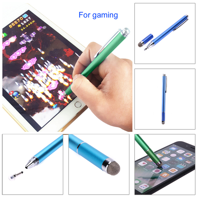 2in1 Capacitive Pen Touch Screen Drawing Pen Stylus with Conductive Touch Sucker Microfiber Touch Head for Tablet PC Smart Phone 5