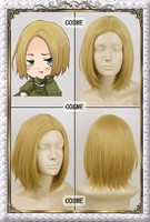 Axis Powers Hetalia APH POLAND Short Gold straight Cosplay Wig free shipping