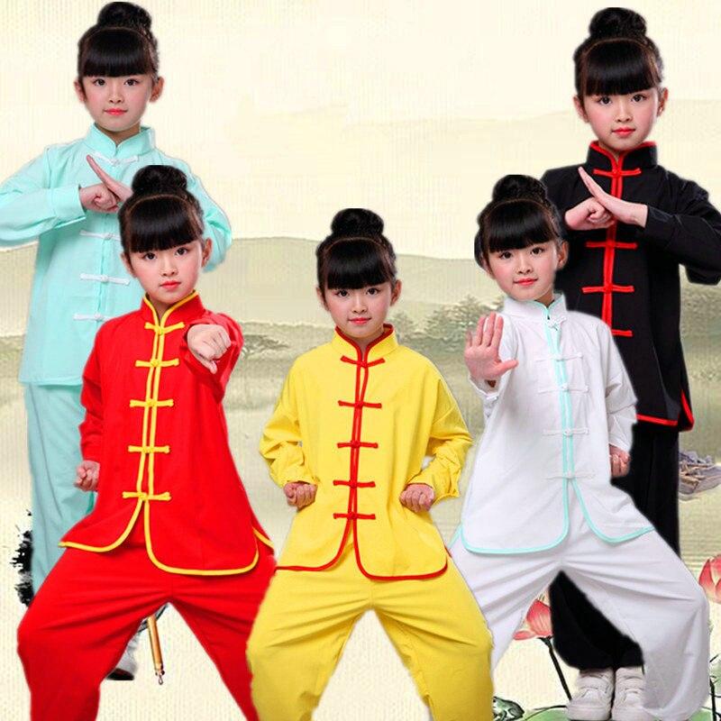USHINE 32 Tai Chi Clothing Long Sleeve KungFu Uniform Wushu TaiChi Uniform Costume Taichi Clothes Girls Children Woman