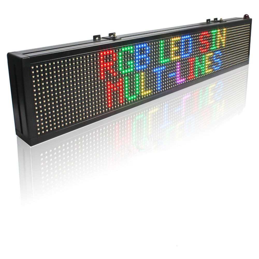 40 X 6 Inches Full Color LED Sign / SMD RGB Can Programmable Scrolling Message LED Display Board Can Be Used In Stores Warehouse