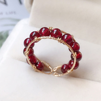 Natural Garnet Rings Custom Handmade Knuckle Jewellery Gold Fiilled Femme Anillos Anel Boho Jewelry Joyas Aneis Rings for Women