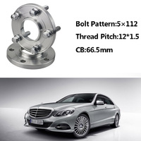 2pcs 5x112 66.5CB Centric Wheel Spacer Hubs M12*1.5 Bolts For Benz E Class W214 W210 C Class W202 W203 A Class W168