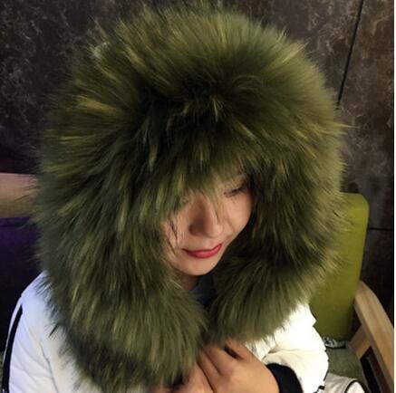Good quality! Winter paragraph fox fur collar faux raccoon fur collar cap  clothing collar scarf 71cm/82cm length