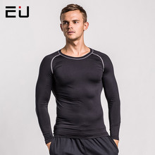 EU Men's Running Shirts Long Sleeve Thin Men Sport Shirts Quick Dry Fit High Quality Running Sport Fitness Bodybuilding T-Shirts