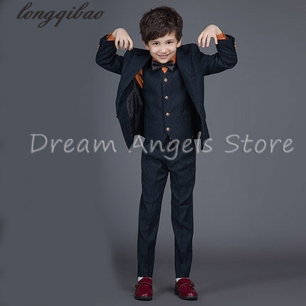 High quality 2017 new fashion baby boys children blazers boys suits for weddings formal black wedding suit flower boy dress high quality 2016 new arrival fashion baby boys kids blazers boy suit for weddings prom formal dark blue dress wedding boy suits