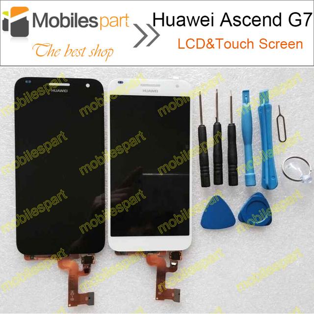 Tela de lcd para huawei g7 novo acessórios de alta qualidade display lcd + substituição da tela de toque para huawei ascend g7 smartphone