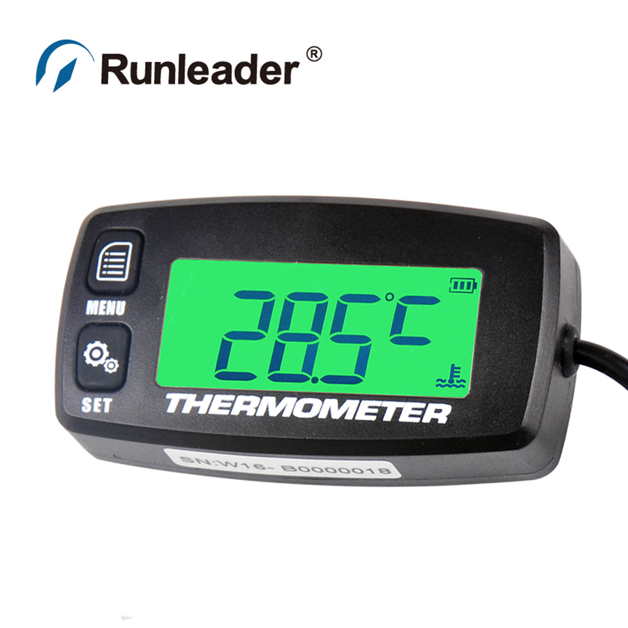 Runleader TM003 TS001 PT100 20 300 TEMP sensor thermometer temperature meter for motorcycle tractor generator cultivator