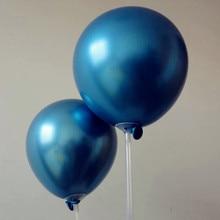 Blue baloons 15pcs/lot thicken 12inch latex metal ballons happy birthday party balloons wedding decorations eid mubarak balon