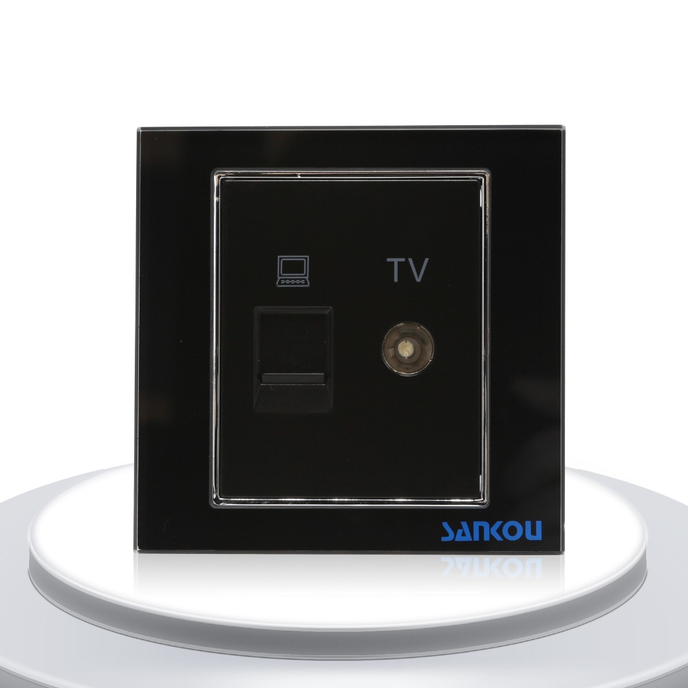 small resolution of cnskou luxury design nodon tv and lan computer wall socket mirror glass television and computer